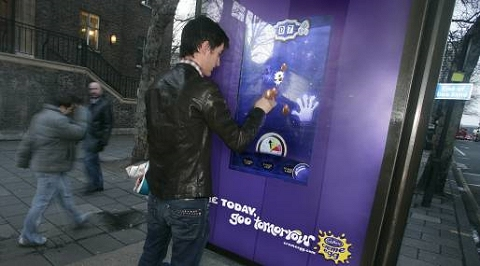 Cadburys Creme Egg Bus shelter game。