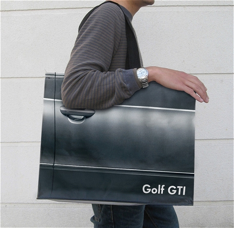 Volkswagen Golf GTIの宣伝用手さげ(肩掛け)袋