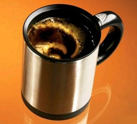 自動かきまぜ装置付マグカップ「The Self-Stirring Mug.」