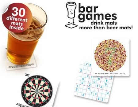 BAR GAMES BEER COASTERS