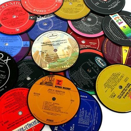 Vintage Record Coasters