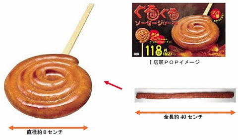 ぐるぐるソーセージ(チーズ味)