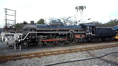 C61の走る雄姿(梅小路蒸気機関車館で動態保存されている別車両)。