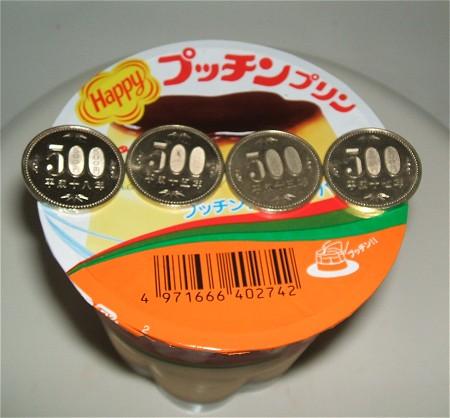 大きさが分かりやすいようにフタの部分に500円玉をならべてみる。