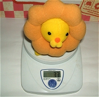 ポンデライオンの体重測定イメージ