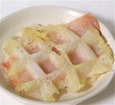 「モッフル・ハム&チーズばさみ」。味は二重丸。