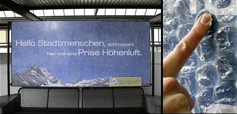 ↑ スイスの観光名所Braunwaldを紹介するポスター