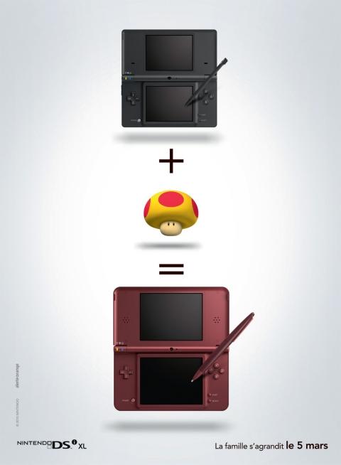 ↑ DSiに「スーパーキノコ」を足してDSi XL!!?