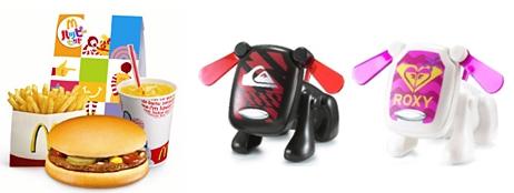 ↑ ハッピーセットとi-Dogおもちゃ一例