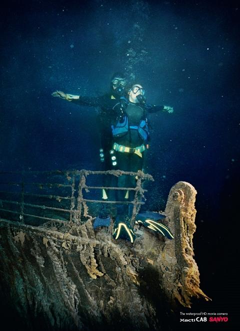 ↑ あのBGMが聴こえてきそうなワンシーンを海中で