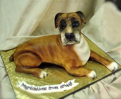 ↑ Boxer dog cake。