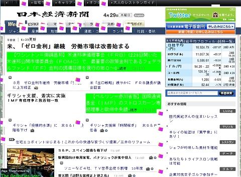 ↑ 試しに日本経済新聞のサイトNIikkei.comを変換してみる……あるあるあるある