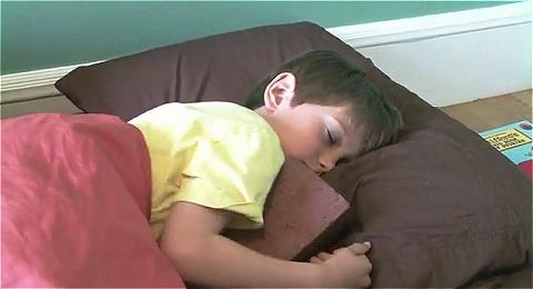 ↑ 子供のおもちゃとしても大活躍、とはいえベッドの中でレンガを抱いて寝るのは別の意味で問題があるような。