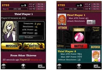 ↑ 「Bandit Nation」サービス画面
