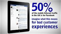 イギリスのモバイルインターネットのトラフィックの50%はFacebook経由によるもの