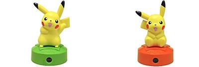 ↑ 「ピカチュウボイス」タイプ(上)と「LEDプロジェクター」タイプ(下)