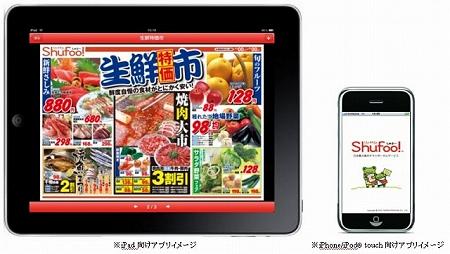 ↑ iPad向けとiPhoneなど向け