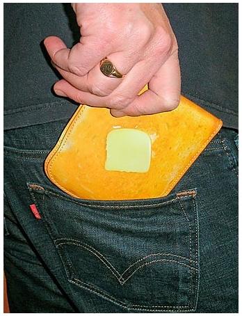 ↑ バター付きトースト財布