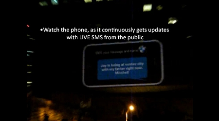 ↑ BMW Joy 3D - SMS Interactive Billboard 。