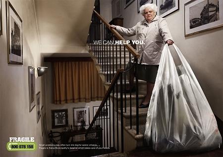 ↑ ゴミ出しも普通の人なら難なく階段を降りてさくっと捨ててこれるけど……