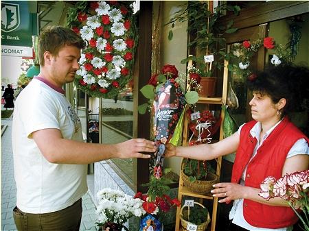 ↑ 「はい注文のお花」「お、何かラップもきれいだな」