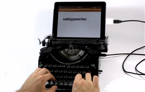 ↑ usbtypewriter demo。