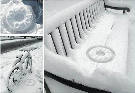 ↑ 雪景色がポロ景色に早変わり