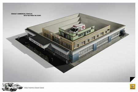 ↑ 運送会社と病院の例