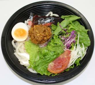 ↑ カレーサラダうどん(坦々麺風)