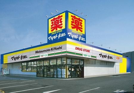 ↑ ローソンストア100が組み込まれた形のマツモトキヨシ浦安東野店