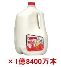 1ガロンの牛乳ボトル