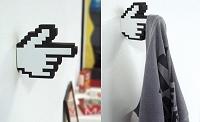 手形アイコンの洋服フック