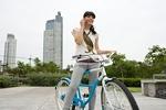 自転車と携帯