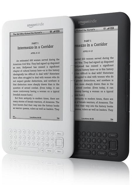 ↑ スタンダードモデル・Kindle 3G + Wi-Fi