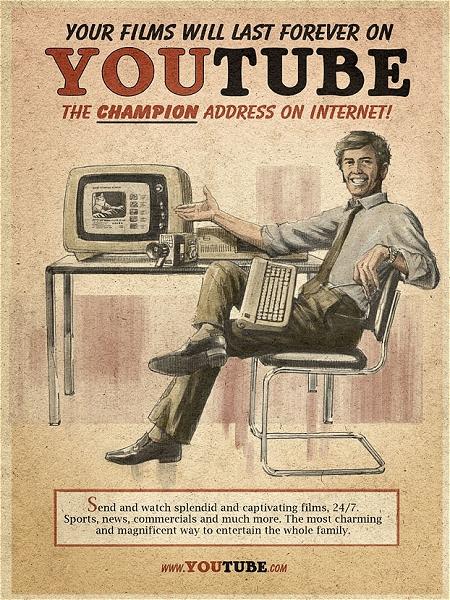 ↑ 1960年代版(風)YouTubeの広告