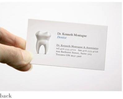 ↑ けど後ろを見ると、歯医者さんの名刺でもあったりする