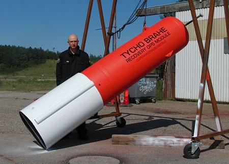 ↑ 「ティコ・ブラーエ」。人間大砲の弾頭のようだ