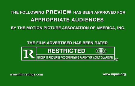 ↑ 某映画のトレーラー(プロモーション用のダイジェスト映像)のもの。いわゆるR指定(YouTube上でのもの)