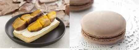 ↑ 上は左が「スペシャルロールケーキ」、右が「スペシャル生どら焼き」。下は左が「安納芋のスイーツ」、右が「スペシャルマカロン」