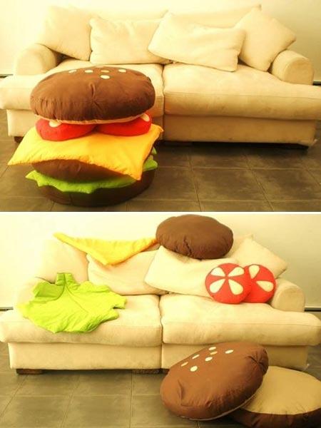 ↑ ハンバーガークッション