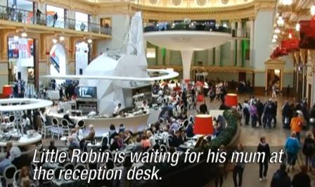 ↑ 「ロビン君のお母さん、ロビン君が帰りを待ってますよ」