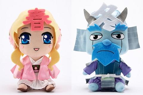 ↑ 春ちゃん(左)と冬将軍(右)