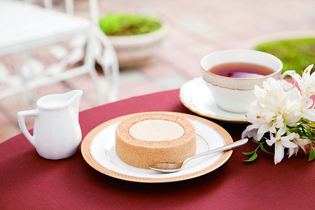 ↑ プレミアム紅茶のロールケーキ