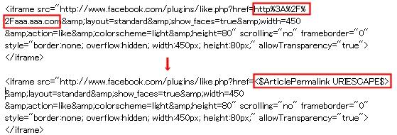↑ 個別記事を表すURLはブログサービスによって異なるので注意