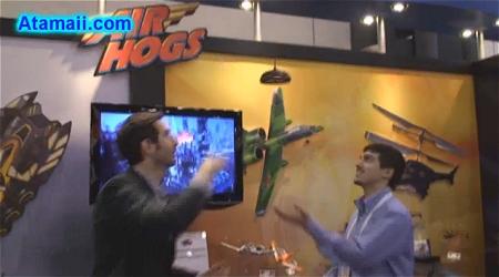 ↑ ほぼ同等品の「Air Hogs」が海外でデモンストレーションをしていた時の様子。