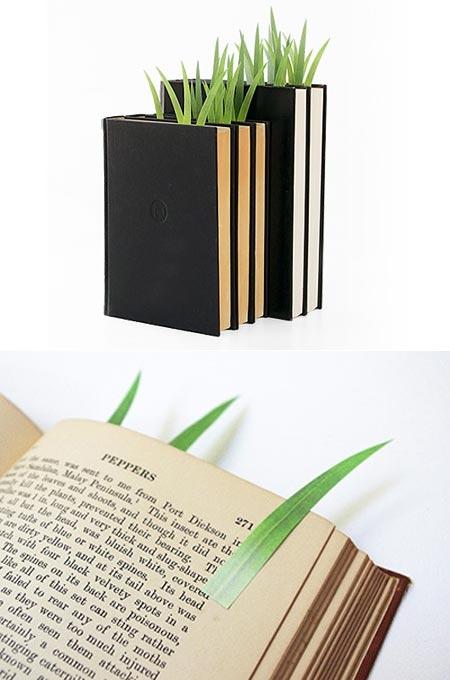 ↑ 読み進めるほど緑が映える付せん