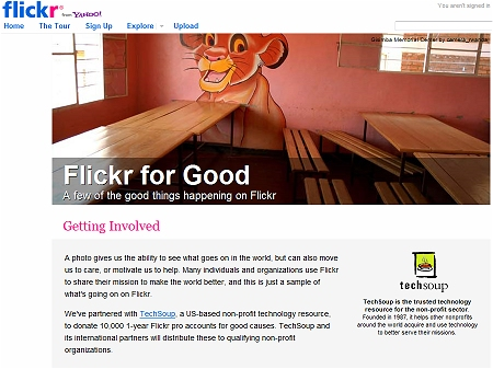 ↑ flickr for good