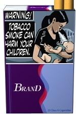 「タバコの煙は、あなたの子供たちを傷つけてしまいます」