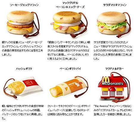 ↑ 今回提供されるマクドナルドのオリジナルストラップ
