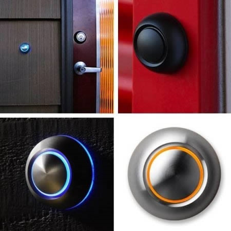 ↑ 押すとLEDが光るドアベル「Spore's True Modern Doorbell Button」。